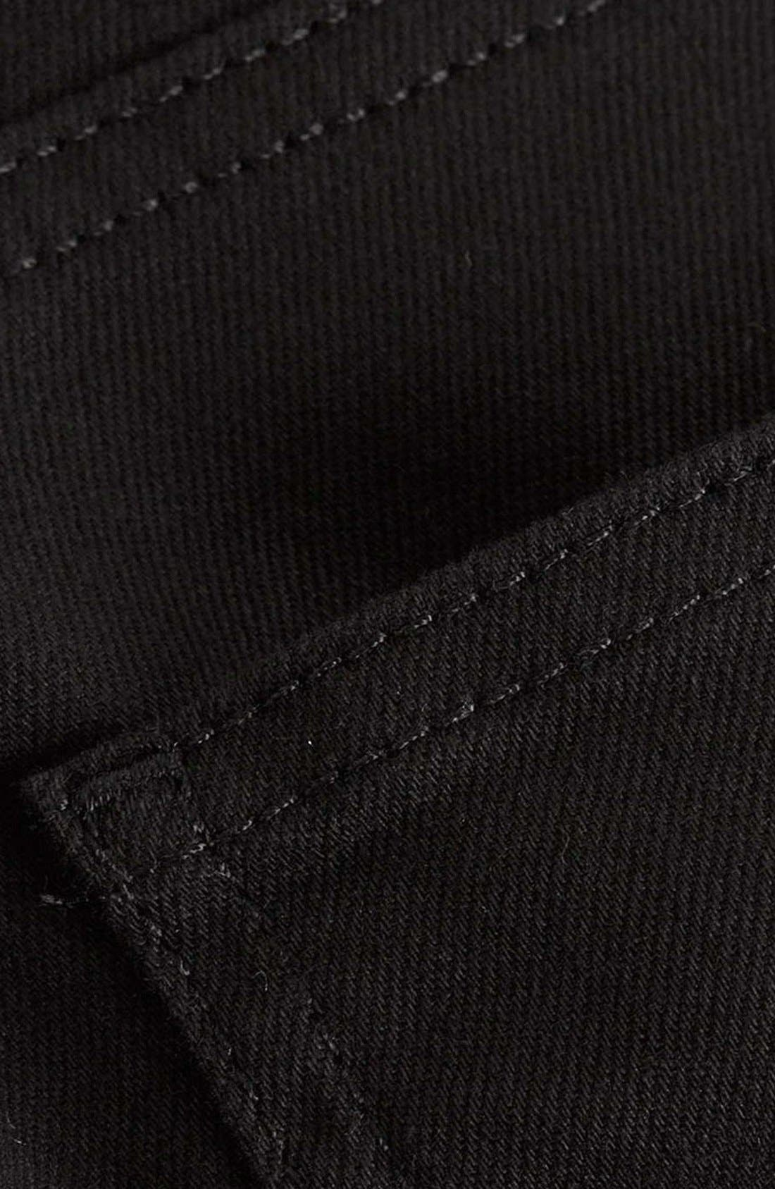 ,                             Skinny Stretch Jeans,                             Alternate thumbnail 7, color,                             BLACK