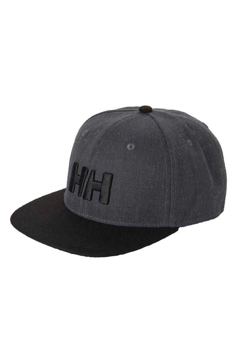 HELLY HANSEN Snapback Baseball Cap, Main, color, CHARCOAL