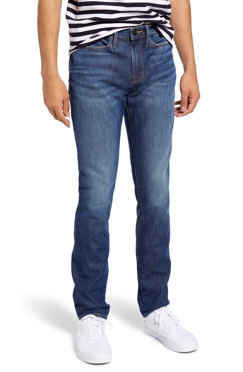 FRAME L'Homme Skinny Fit Jeans, Main, color, BANKS