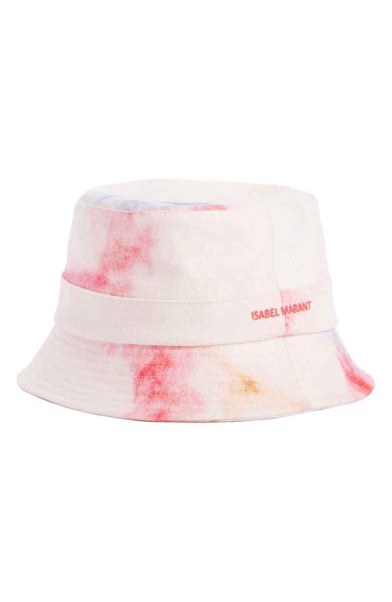 ISABEL MARANT Haley Slouchy Tie Dye Bucket Hat, Main, color, 650