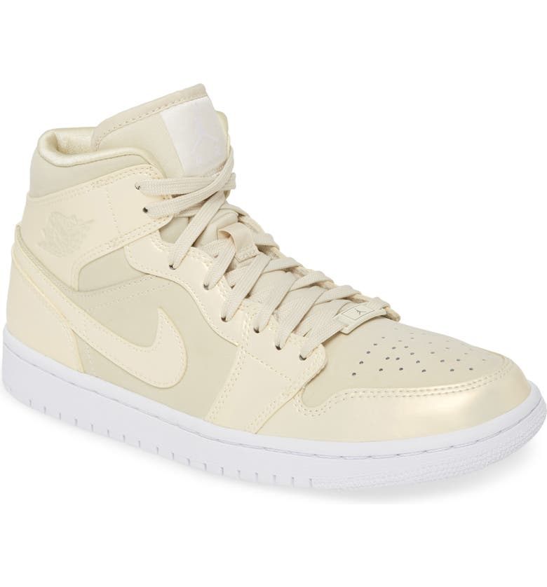 JORDAN Air Jordan 1 Mid SE Sneaker, Main, color, FOSSIL/ FOSSIL WHITE