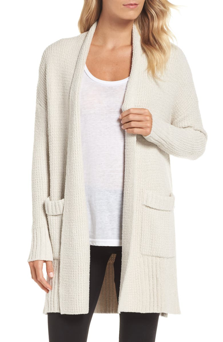 BAREFOOT DREAMS<SUP>®</SUP> CozyChic<sup>®</sup> Lite Long Weekend Cardigan, Main, color, BISQUE