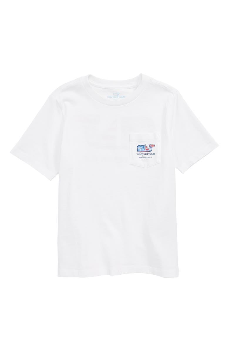 VINEYARD VINES Washington Whale Pocket T-Shirt, Main, color, WHITE CAP