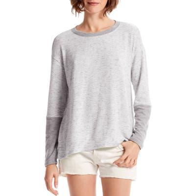 Michael Stars Colorblock Pullover Top, Grey