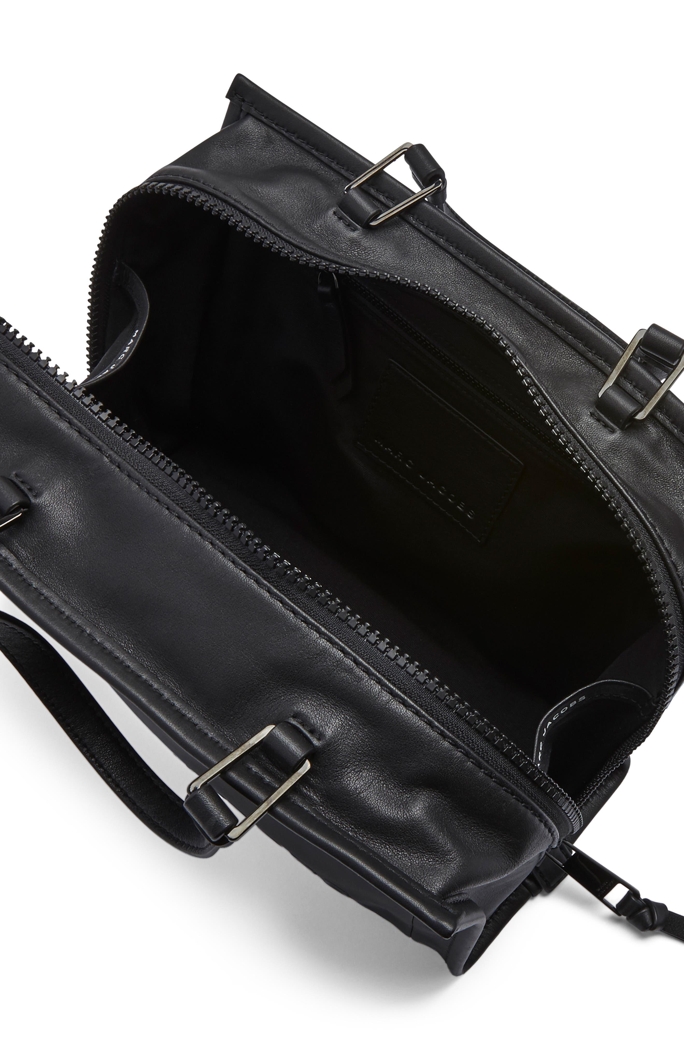 ,                             The Box 29 Leather Satchel,                             Alternate thumbnail 5, color,                             BLACK
