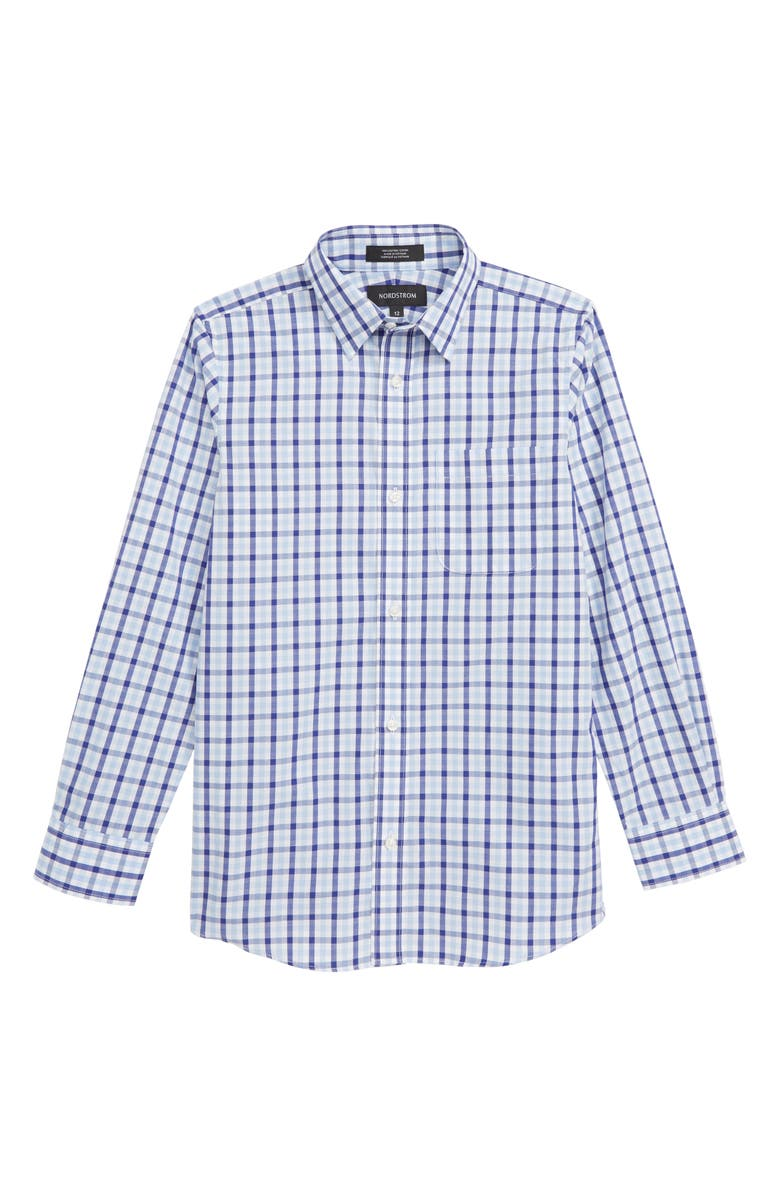 NORDSTROM Check Dress Shirt, Main, color, 420
