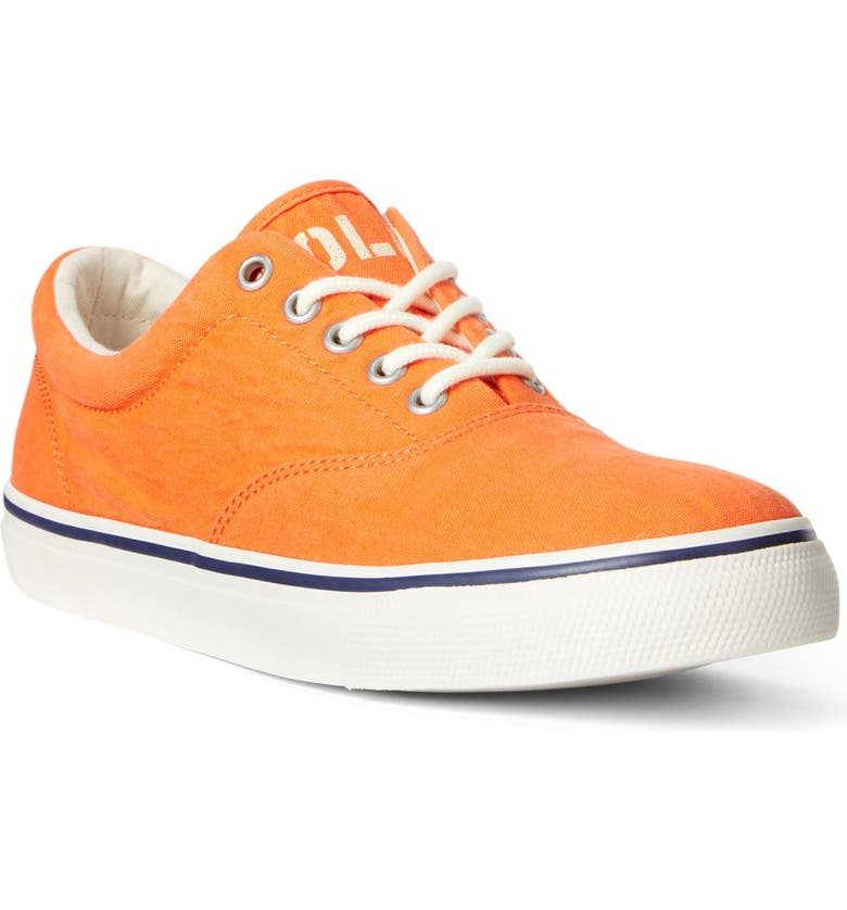 POLO RALPH LAUREN Harpoon Sneaker, Main, color, BRIGHT SIGNAL ORANGE