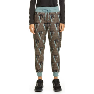 Undercover X Valentino Beethoven V-Print Jogger Sweatpants, (fits like 2-4 US) - Brown