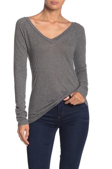 Velvet By Graham Spencer Tulia V Neck Long Sleeve T Shirt Nordstrom Rack
