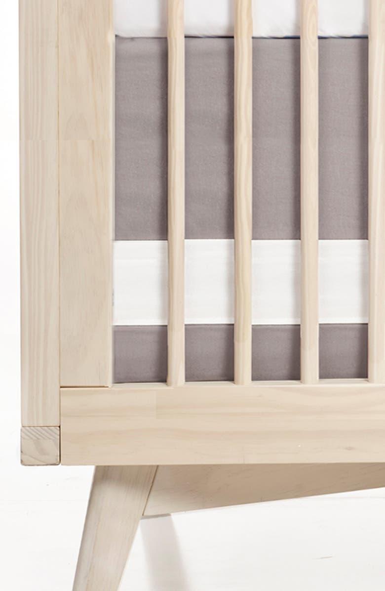 OILO Print Band Crib Skirt, Main, color, DOVE