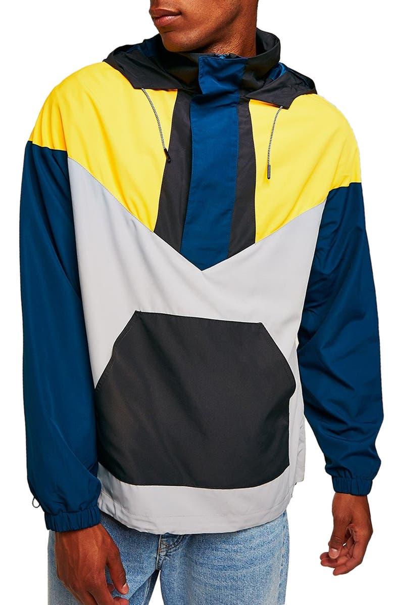 5efcbb733 Topman Half-Zip Pullover Hooded Jacket | Nordstrom