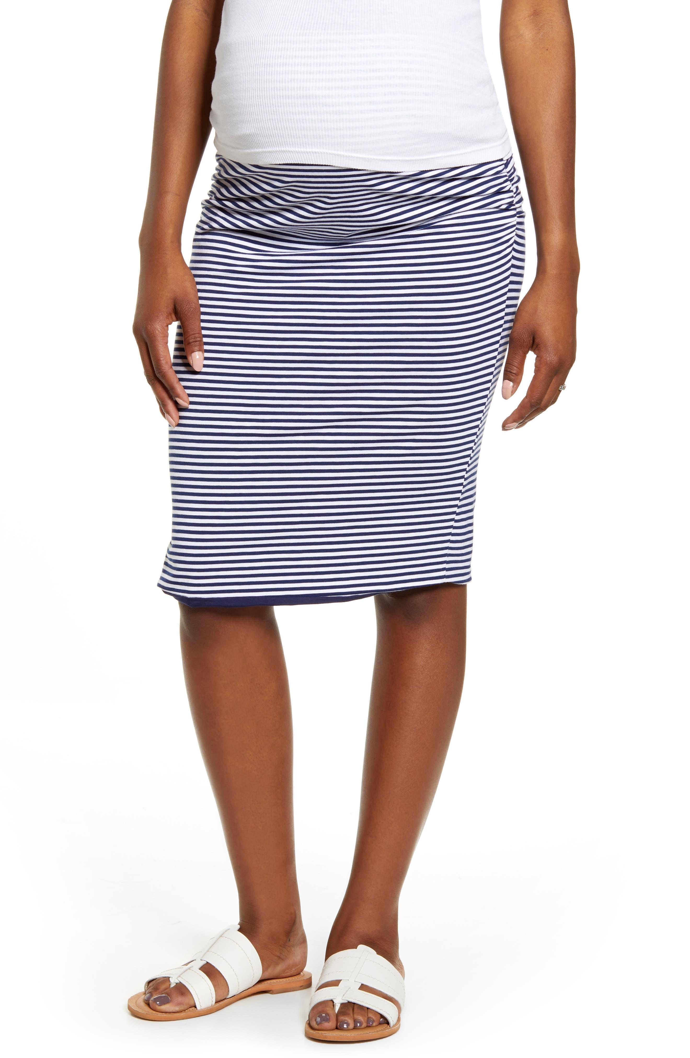 Angel Maternity Reversible Maternity Pencil Skirt, Blue