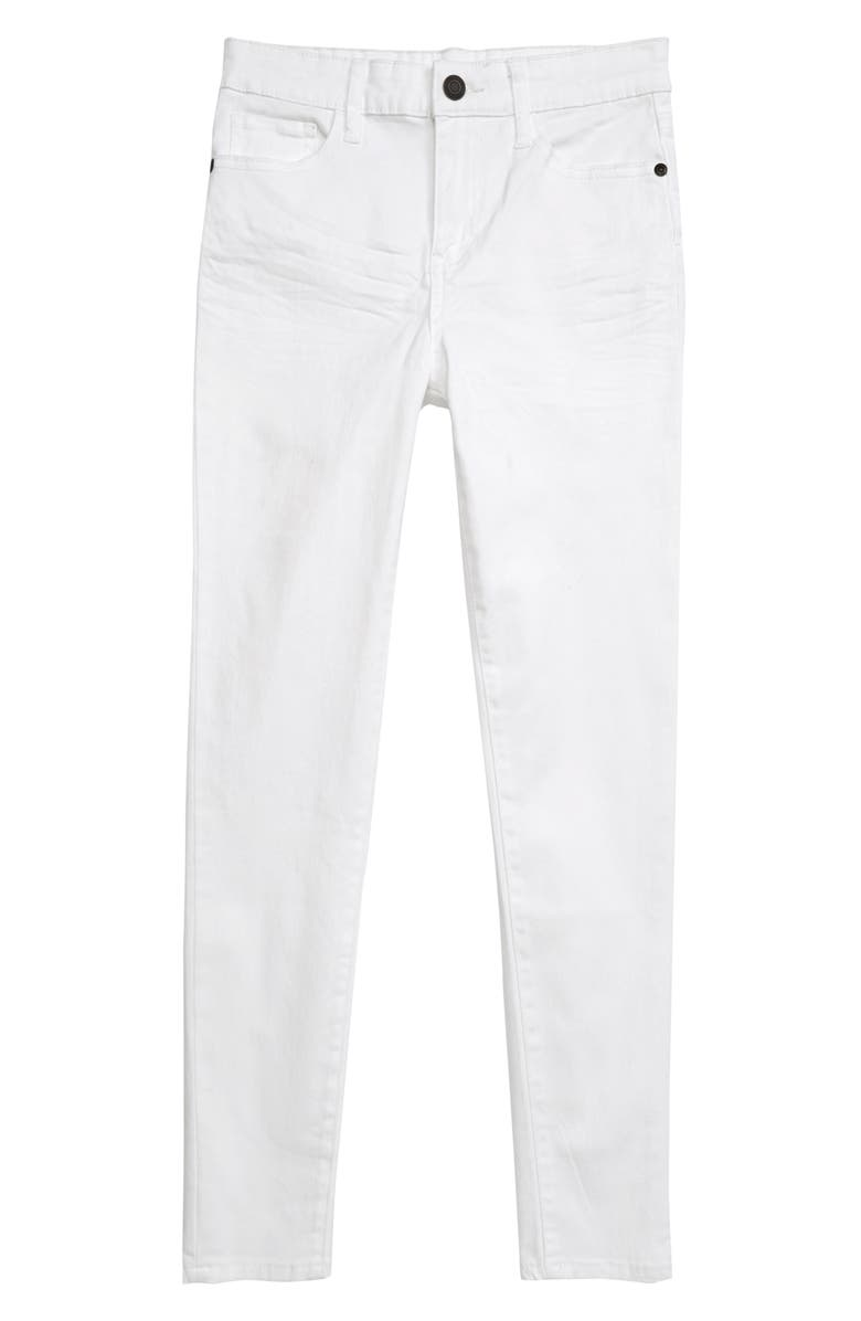 TUCKER + TATE Colored Denim Skinny Jeans, Main, color, WHITE