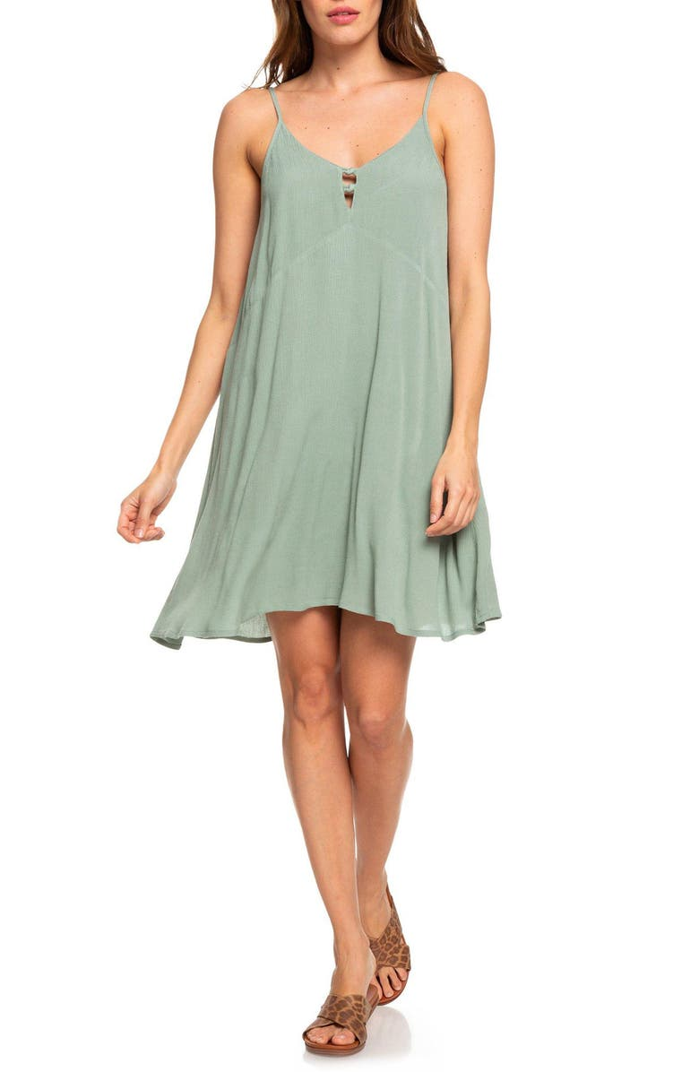 ROXY Full Bloom Swing Dress, Main, color, LILY PAD