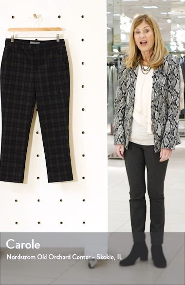 Ab-Solution Plaid Ankle Trousers, sales video thumbnail