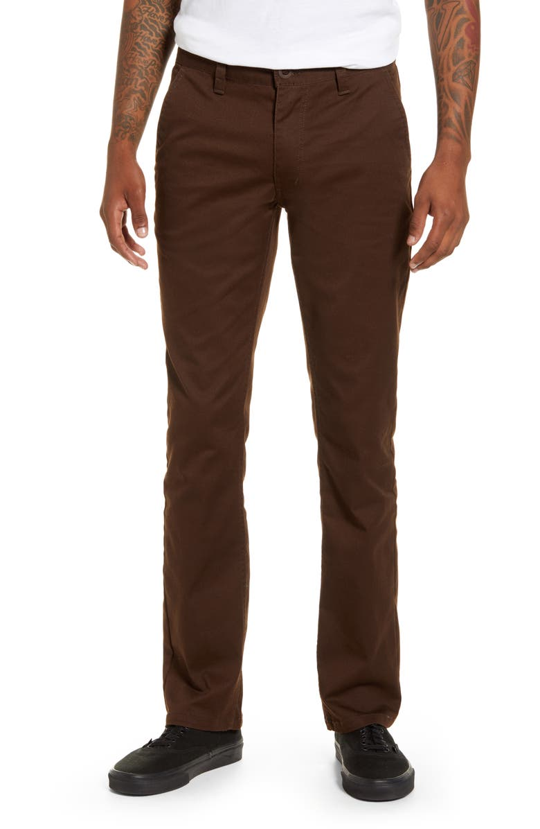 BRIXTON Reserve Chinos, Main, color, BROWN