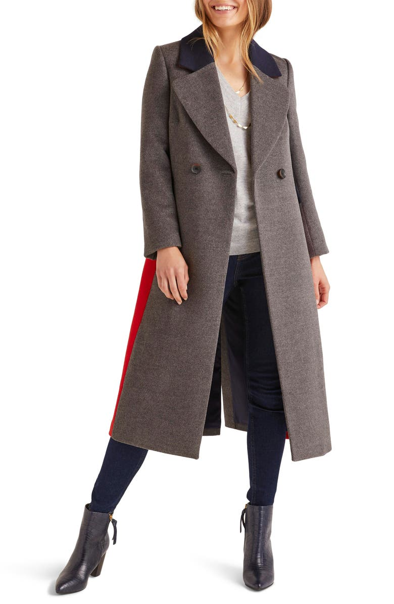 BODEN Burney Colorblock Wool Blend Coat, Main, color, 054