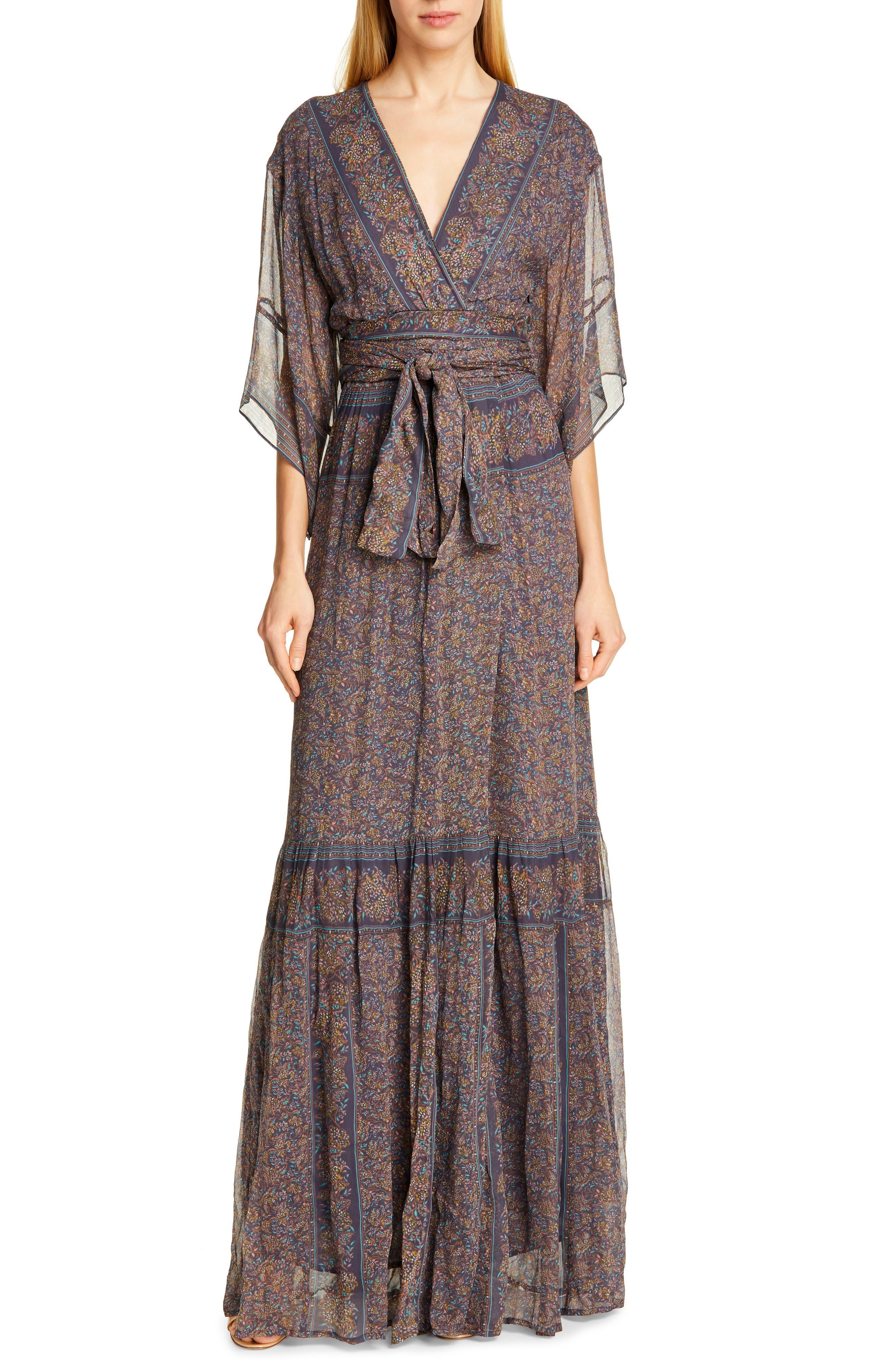 Ba & sh May Maxi Dress, Grey