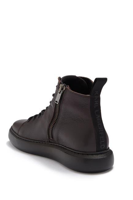 Image of Karl Lagerfeld Paris Pebbled Leather Side Zip Boot