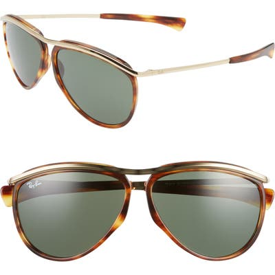 Ray-Ban 5m Aviator Sunglasses - Gold Havana/ Green Solid