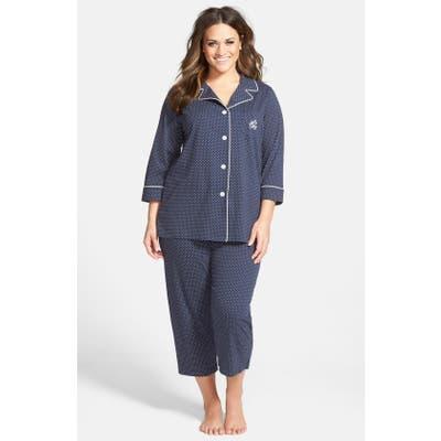 Plus Size Lauren Ralph Lauren Knit Crop Pajamas, Size - (Plus Size) (Online Only)