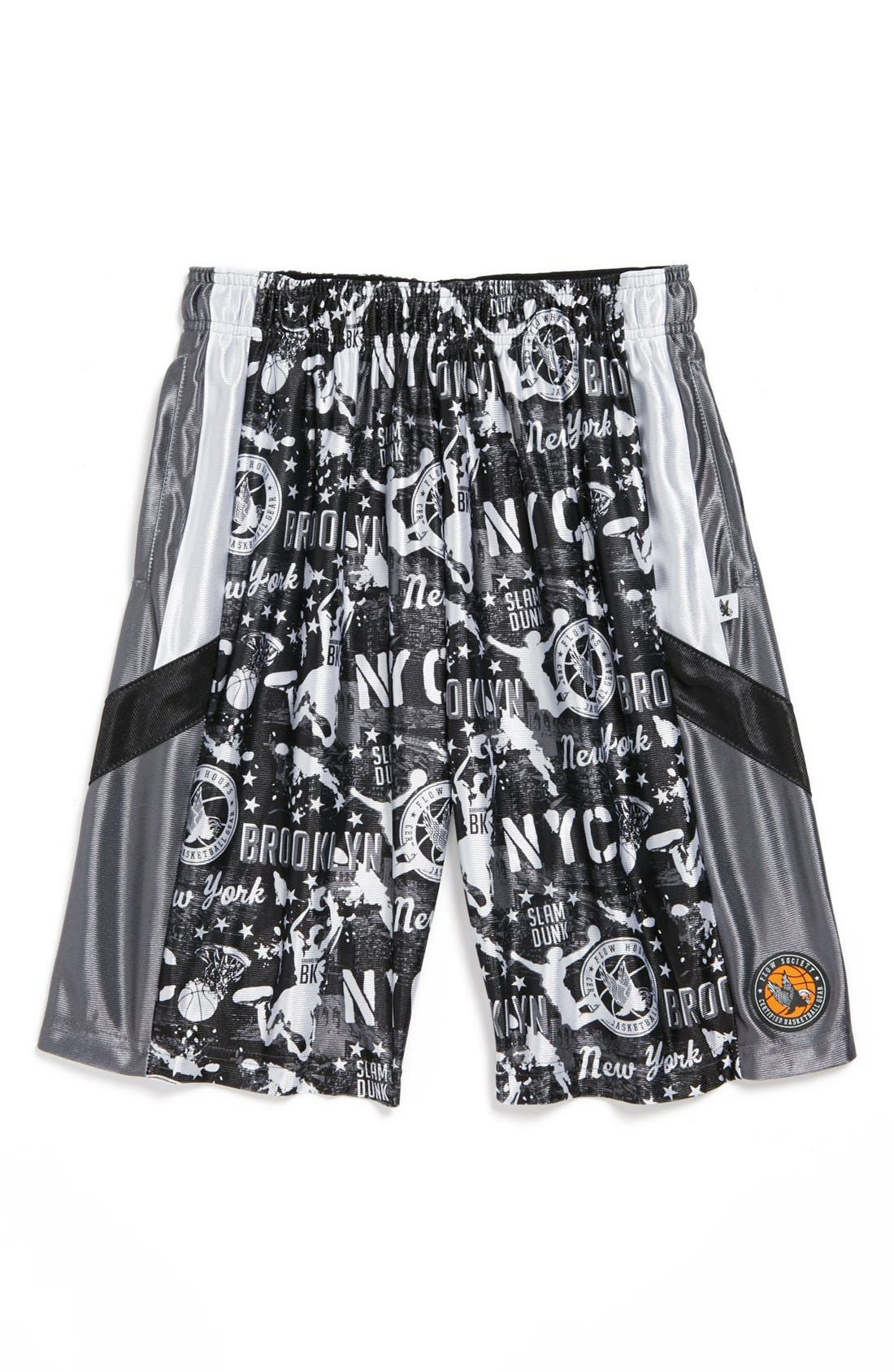 Flow Society Boys Big Brooklyn Basketball Shorts
