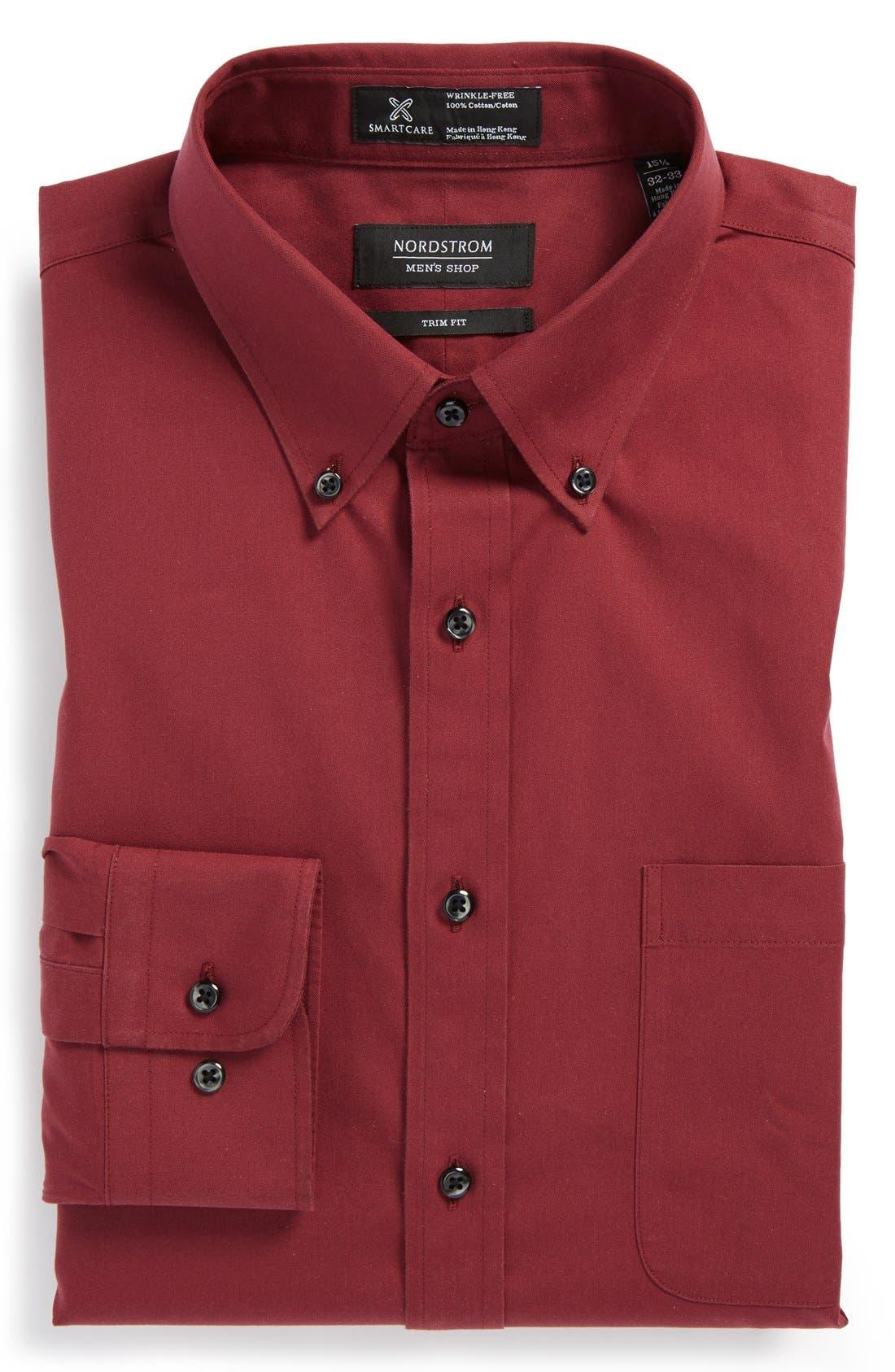 ,                             Smartcare<sup>™</sup> Trim Fit Solid Dress Shirt,                             Main thumbnail 32, color,                             601