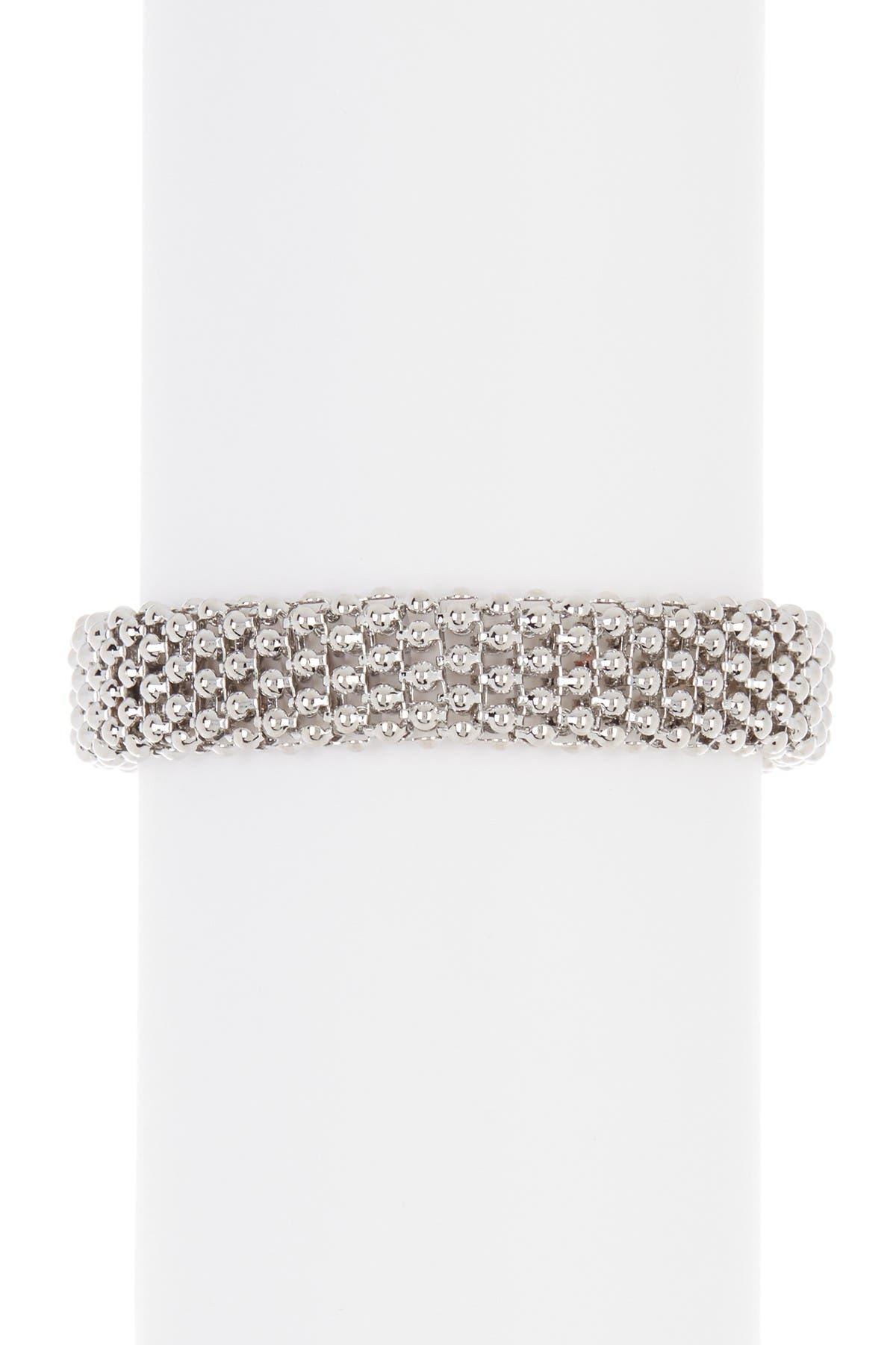 Image of Meshmerise Popcorn Mesh CZ Flexible Buckle Bracelet
