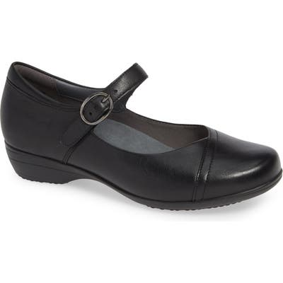 Dansko Fawna Mary Jane Flat-6 W - Black