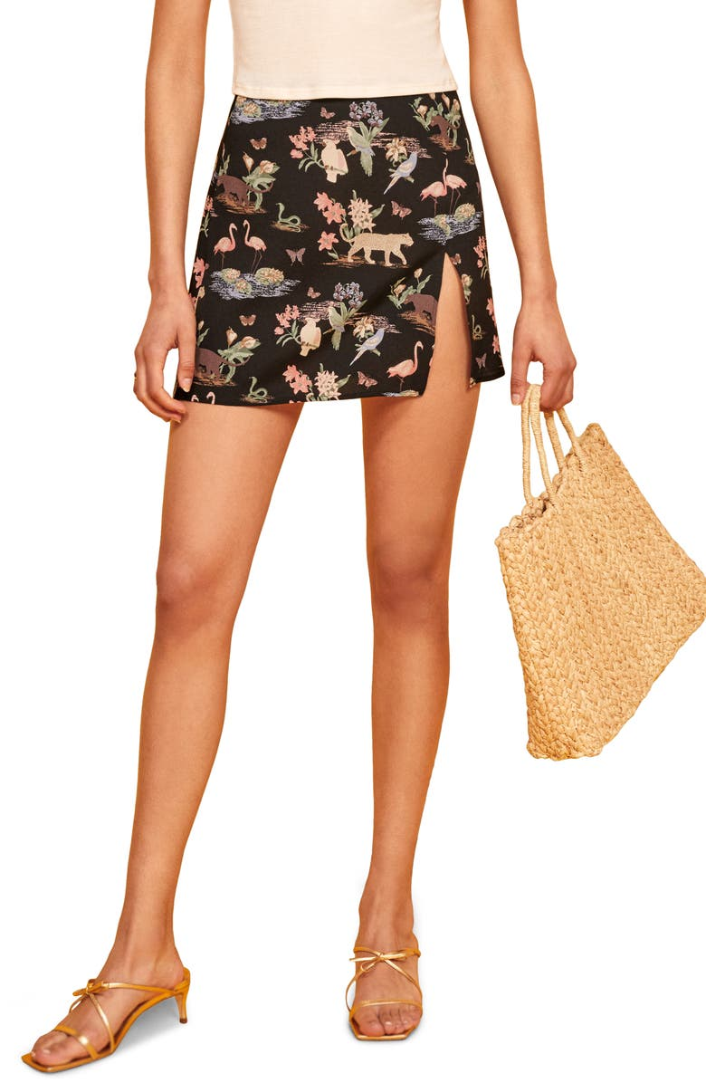 REFORMATION Margot Miniskirt, Main, color, BRASILIA