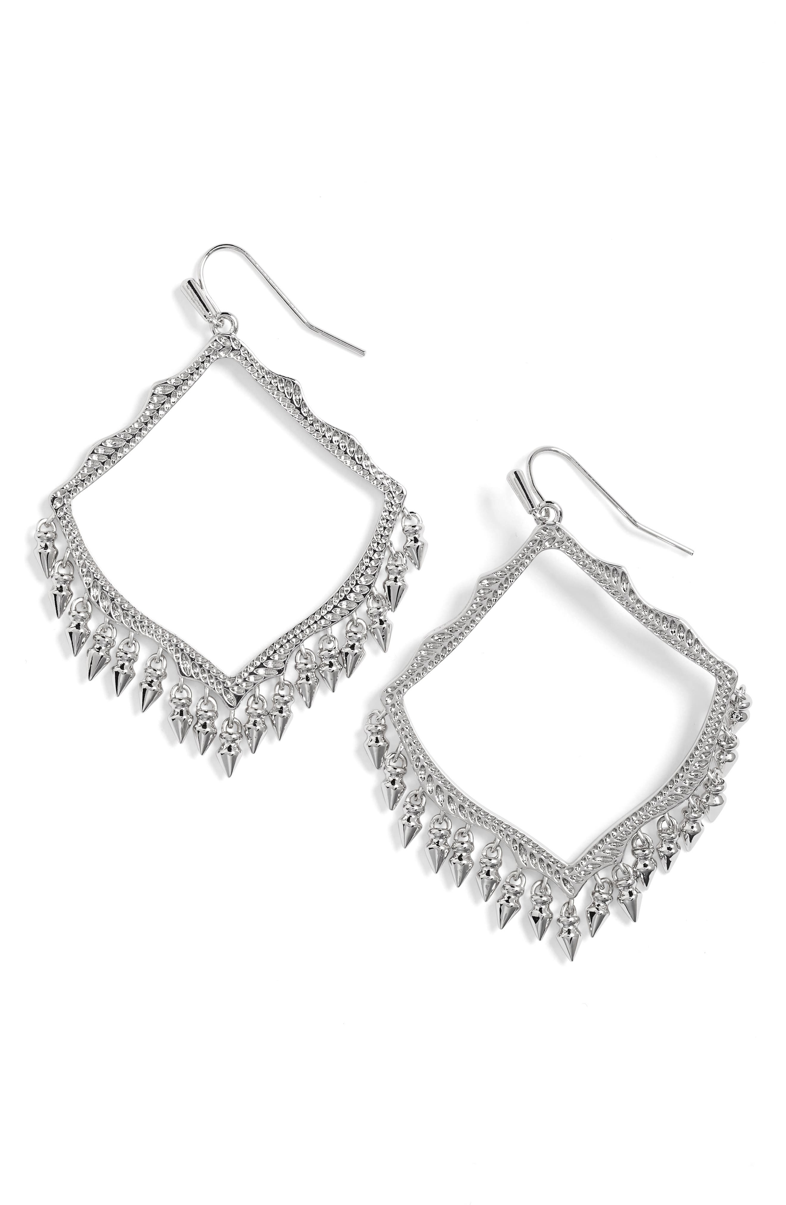 Lacy Drop Earrings, Main, color, 040