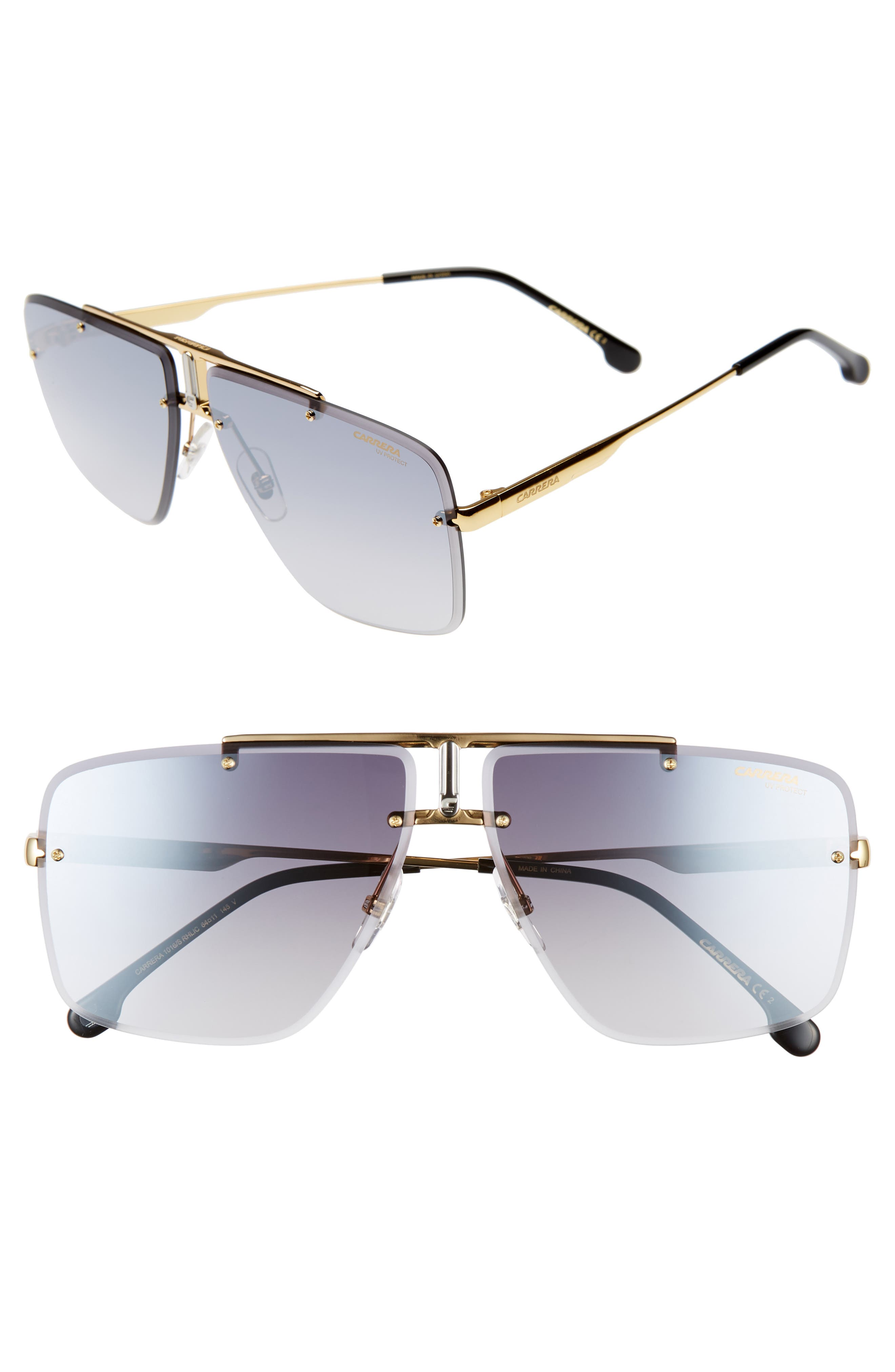 Carrera Eyewear Navigator Sunglasses - Gold Black