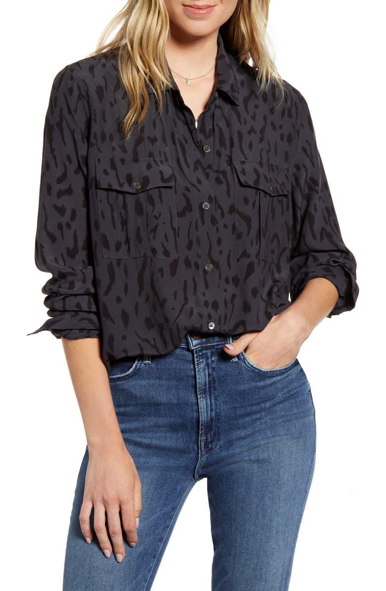 RAILS Rhett Shirt, Main, color, ASH CHEETAH