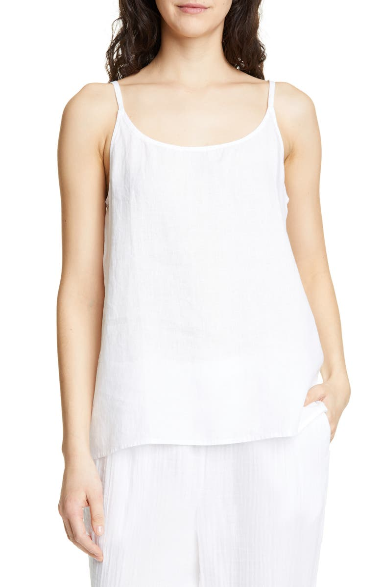 EILEEN FISHER Organic Linen Camisole, Main, color, 100