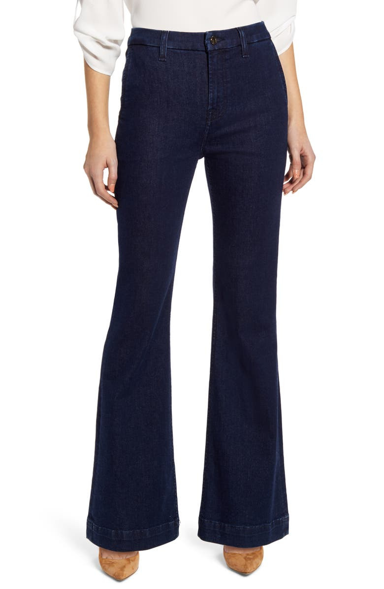 JEN7 BY 7 FOR ALL MANKIND High Waist Tailorless Trouser Jeans, Main, color, HAVEN