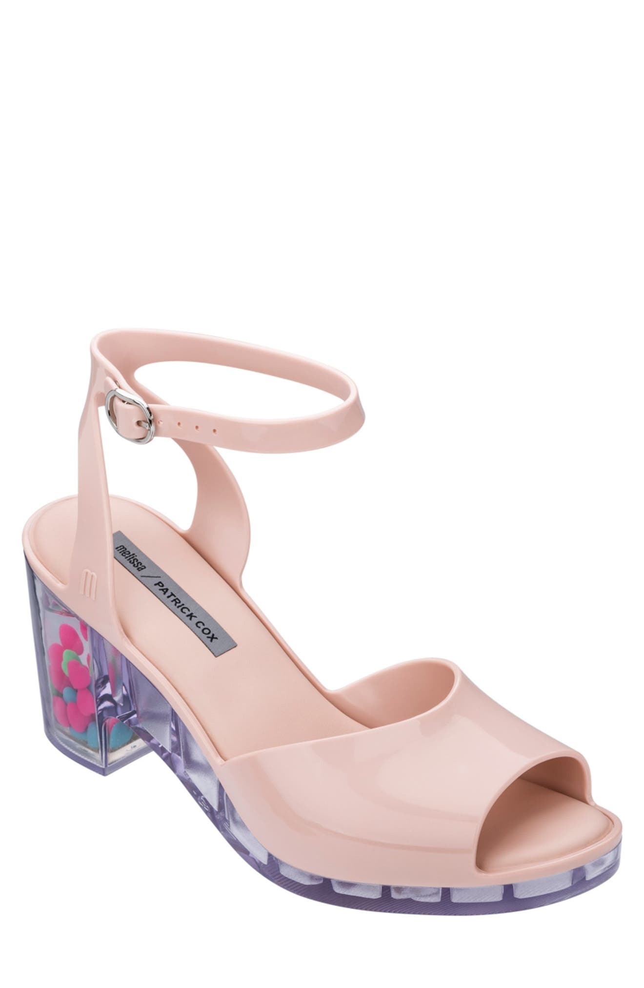 80s Shoes, Sneakers, Jelly flats  1980s Shoes MELISSA x Patrick Cox Heart Heel Jelly Sandal Size 5 in Light Pink at Nordstrom Rack $59.97 AT vintagedancer.com