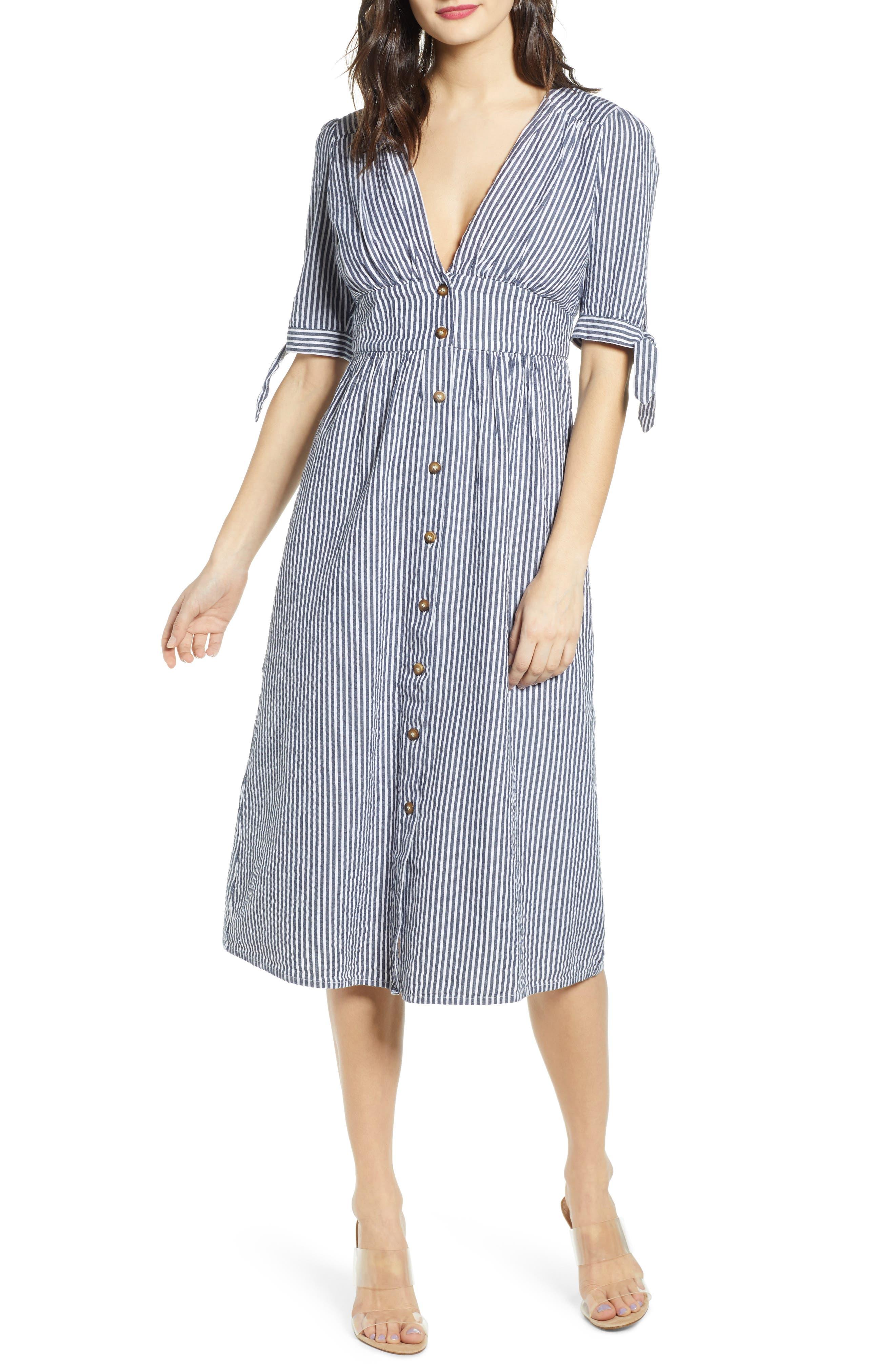 Vera Moda Vmmila Fit & Flare Dress, Blue