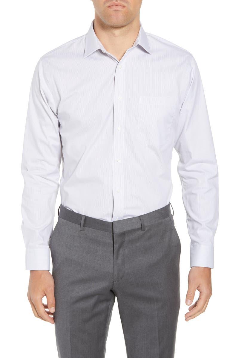 NORDSTROM MEN'S SHOP Trim Fit Non-Iron Stripe Dress Shirt, Main, color, 040