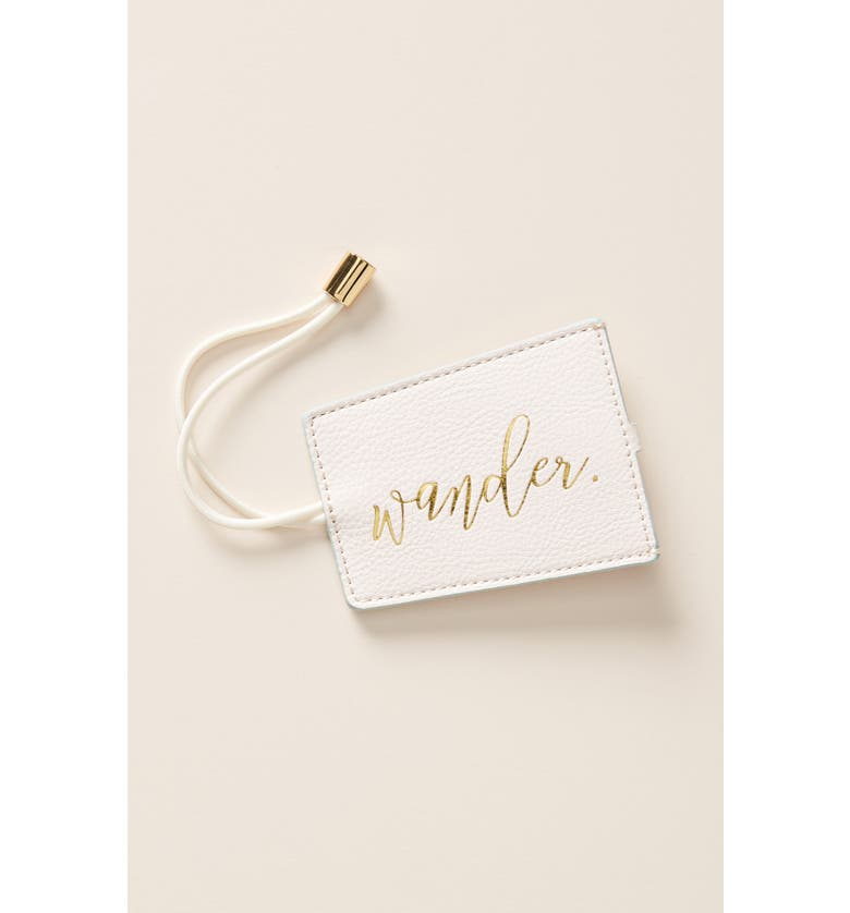 ANTHROPOLOGIE Seraphina Luggage Tag, Main, color, PINK