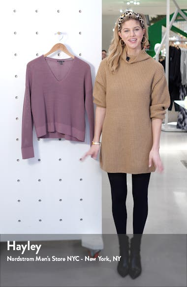 Boxy V-Neck Pullover, sales video thumbnail