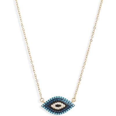 Knotty Pave Evil Eye Pendant Necklace