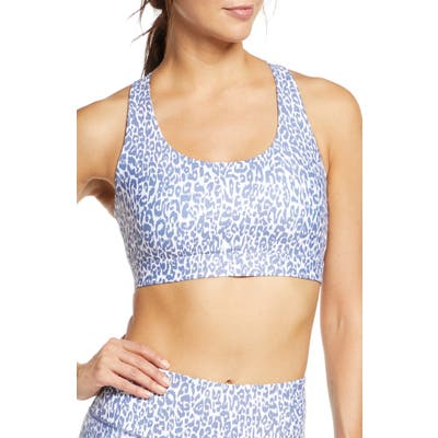 Soul By Soulcycle Ombre Leopard Sports Bra, Blue