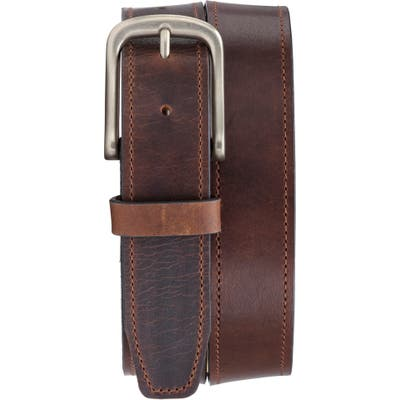 Trask Kaden Leather Belt, Cognac English Oiled Steer