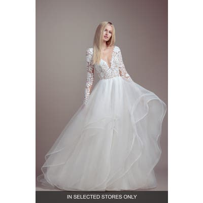 Blush By Hayley Paige Praise Long Sleeve Lace & Tulle Wedding Dress