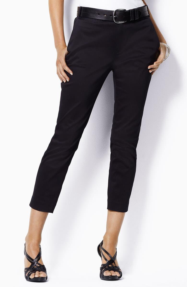 LAUREN RALPH LAUREN Lauren by Ralph Lauren Crop Pants, Main, color, Black