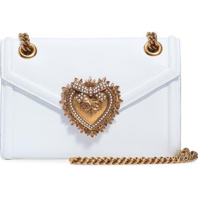 Dolce & gabbana Micro Devotion Leather Crossbody Bag - White