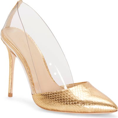 Imagine By Vince Camuto Ossie Clear Pump, Metallic