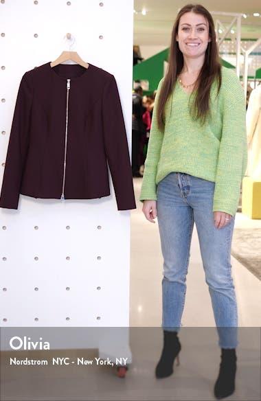 Jepeplar Zip Front Peplum Jacket, sales video thumbnail