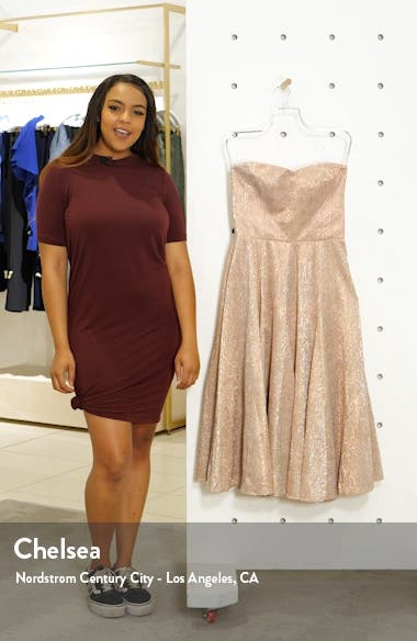 Vivenne Strapless Fit & Flare Dress, sales video thumbnail