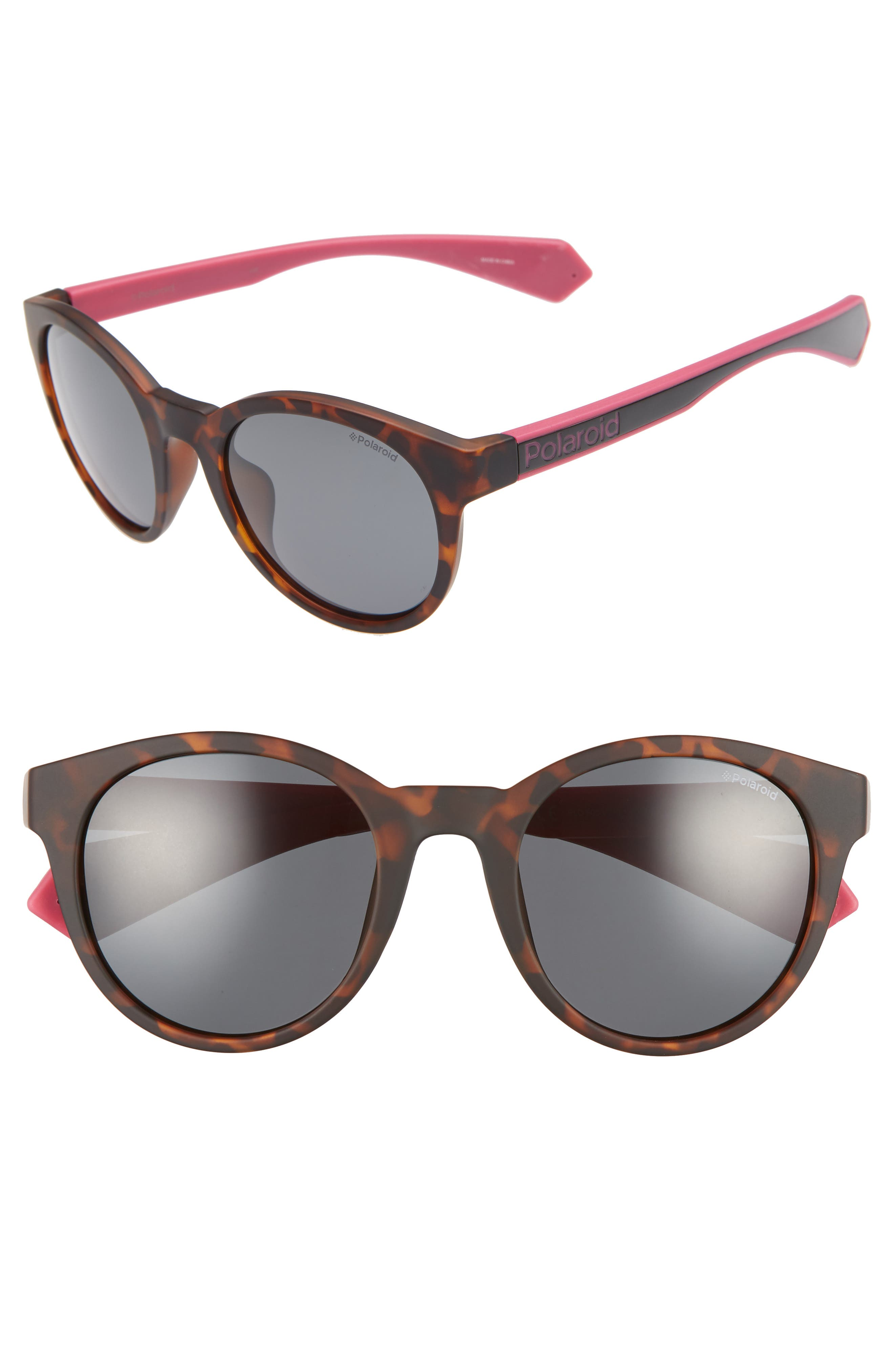 Polaroid 52Mm Polarized Round Sunglasses -